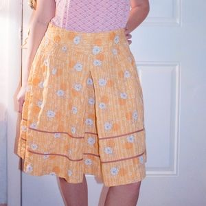 Urban Outfitters Floral Mustard Medium Skirt.